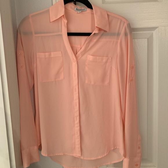 Express Tops - light pink blouse